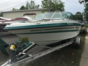 20' MARIAH OPEN BOW W/ MERC 4.3LX V6 I/O & 2012 VENTURE SINGLE AXLE TRAILER