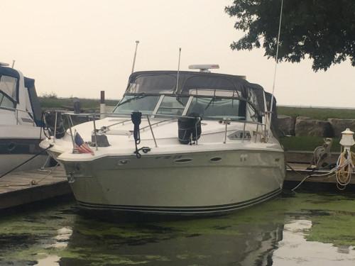 1990 SEA RAY 350 SUNDANCER CRUISER W/ TWIN 7.4L MERC I/B'S