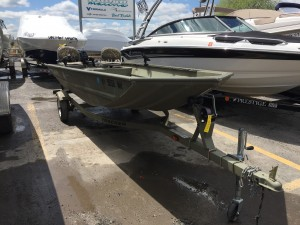 2012 TRACKER GRIZZLY 1648 W/ MERCURY 9 9 HP O/B & TRAILER