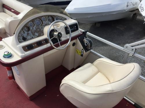 2001 22 CREST II PONTOON BOAT W/90 HP MERCURY O/B