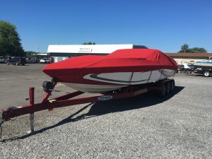 2006 ELIMINATOR 28 EAGLE XP OPEN  BOW W/ 496 MERC V8 I/O & TRIPLE AXLE TRAILER