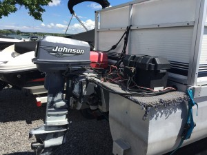 2003 LANDAU 16' BANDIT PONTOON BOAT W/ 25 HP JOHNSON & TRAILER