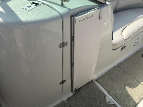 2002 CROWNLINE 239DB DECK BOAT W/ MERC 350 MAG MPI BRAVO III & 2014 VENTURE TRAILER