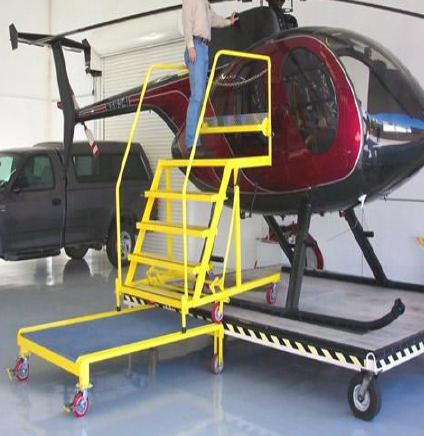 100 Series Helicopter Maintenance Stand on Dolly