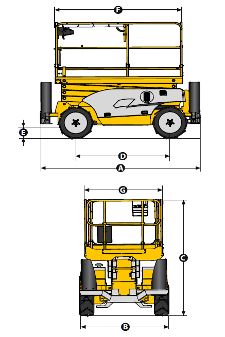 Compact 2668 RTE Scissor Lift