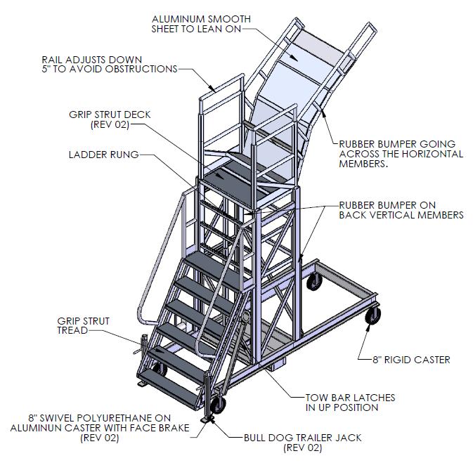 Adjustable Height Pylon Stand