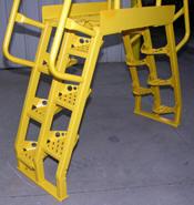 Alternating Tread Cross Over Ladder