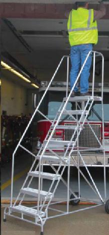 Rolling Aluminum Wheelbarrow Ladder