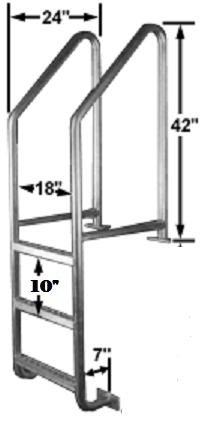Aluminum Dock Ladder.