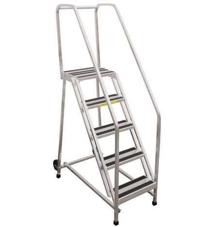 Aluminum Rolling Safety Ladders
