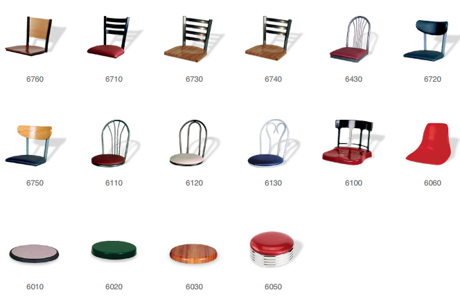 Cafeteria Table Clusters - Chairhead Options