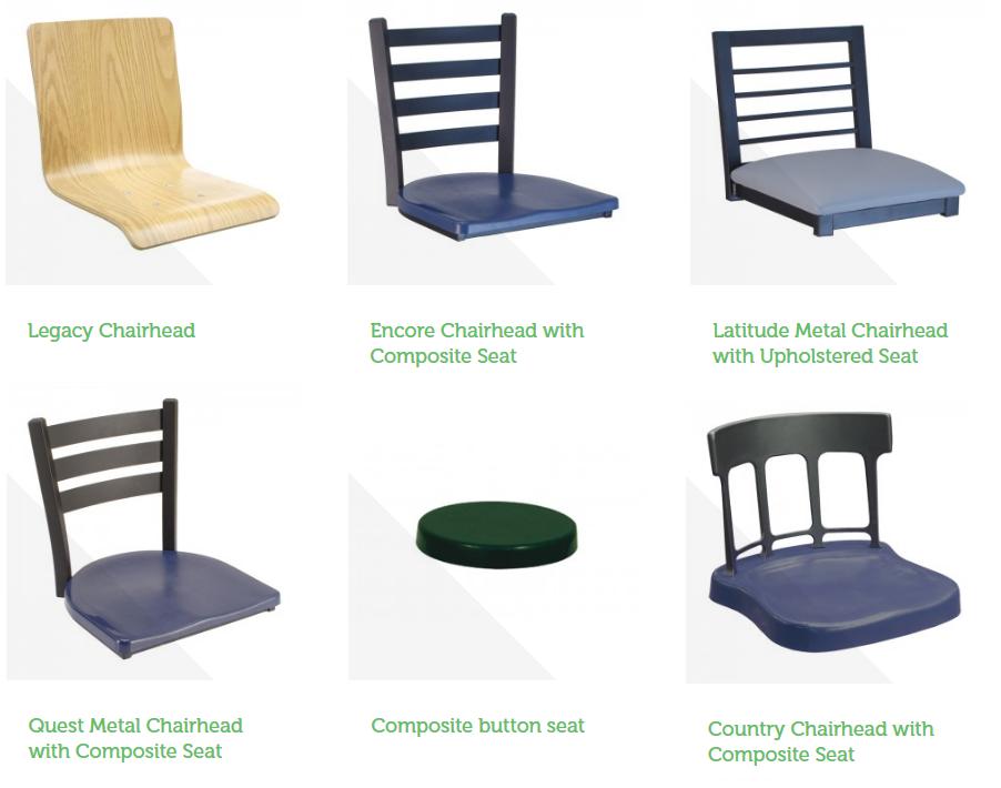 Cebra Chairhead Seating Options