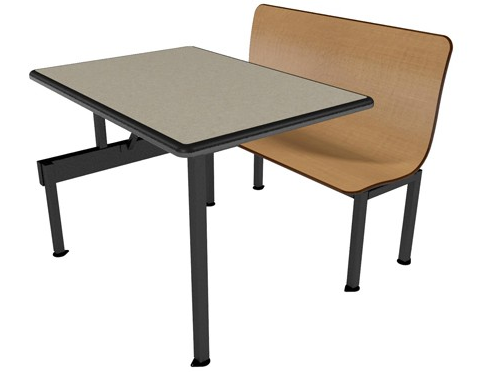 """Contour Bench 59""""W ADA Compliant Wall Seating Unit"""