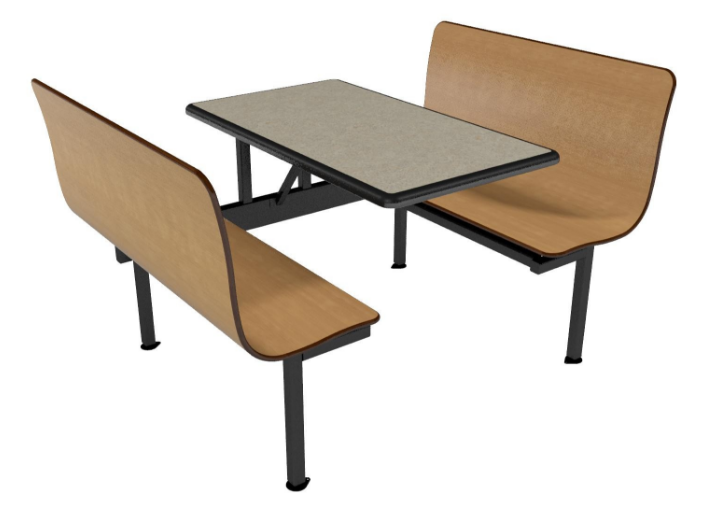 """Contour Bench 42""""W Wall Seating Units"""