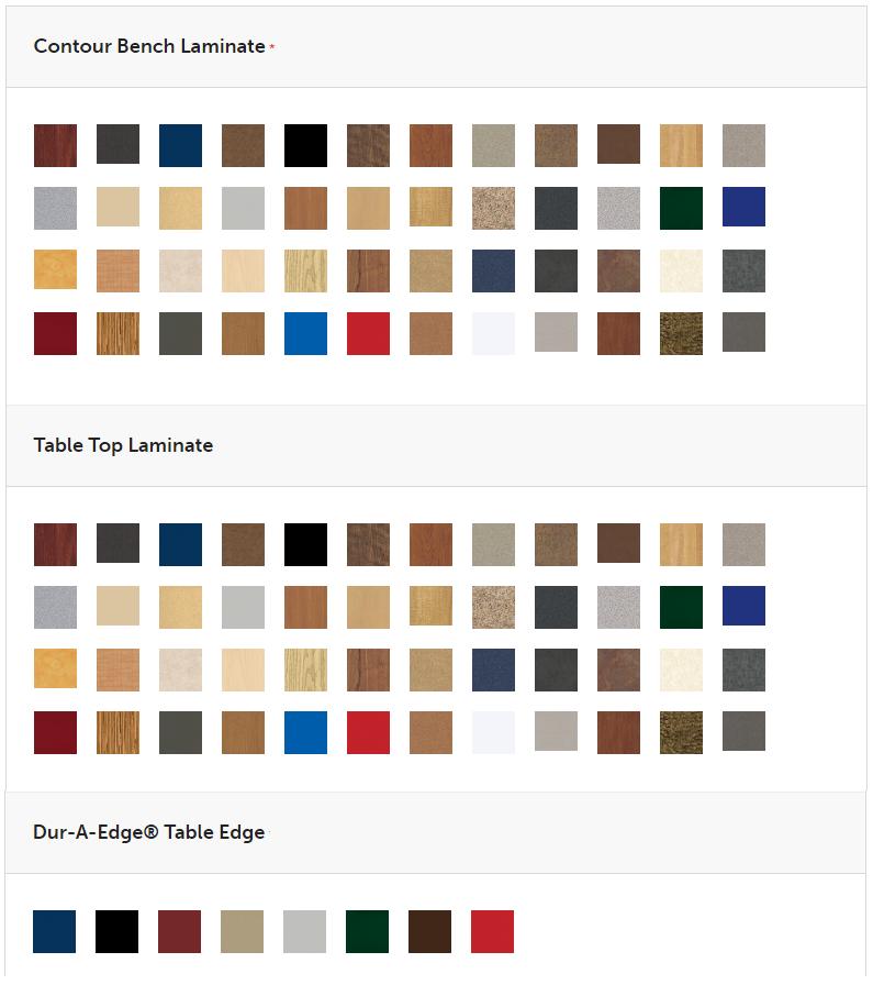Contour Bench Unit Colors