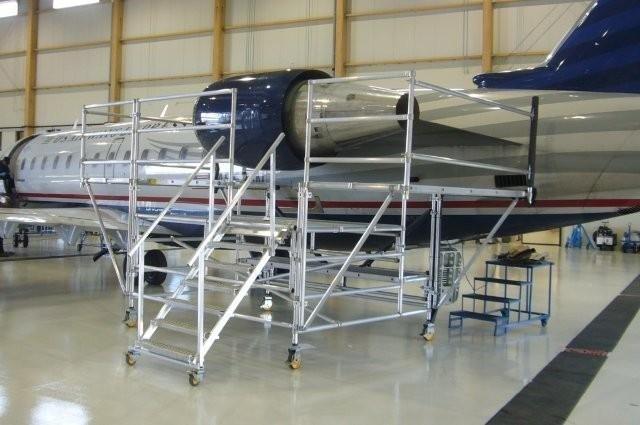 Aerospace Scaffolding - CRJ 200 Engine Maintenance Stand