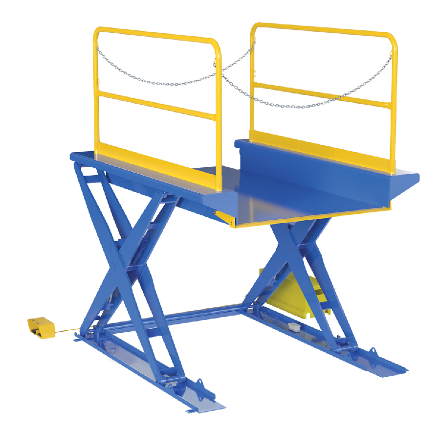 Ground Lift Scissor Tables with Handrails