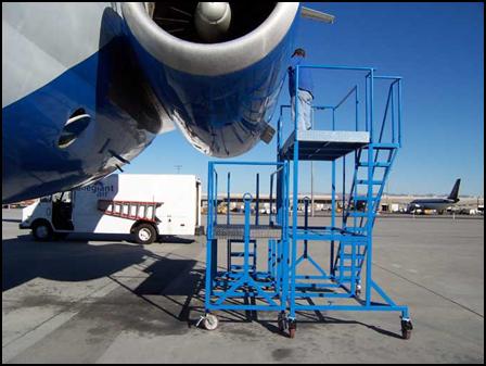 Custom Aircraft Maintenance Stand - MD80/90 Engine Stand