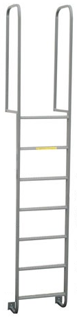Fixed Ladders with walk through handrails
