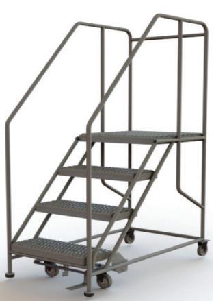 Forward Descent Mobile Steel Work Platform