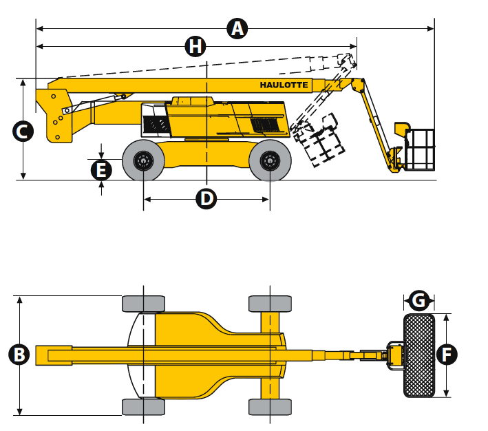 HA 100 JRT Articulating Boom Lift