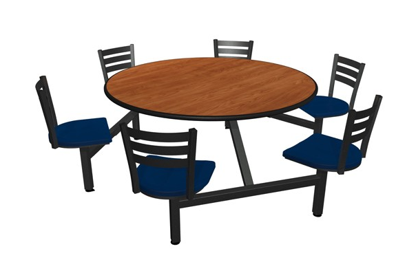 "Jupiter 6 Seat 60"" Round Table Unit"