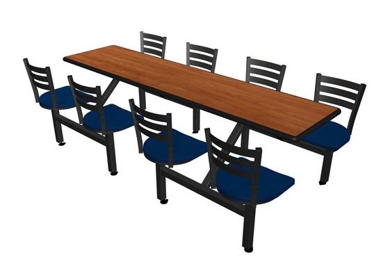 """Jupiter 8 Seat 24"""" x 96"""" Rectangle Table Unit"""