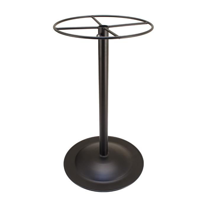 Outdoor furniture-Bar Height Spun Metal Table Base - Small