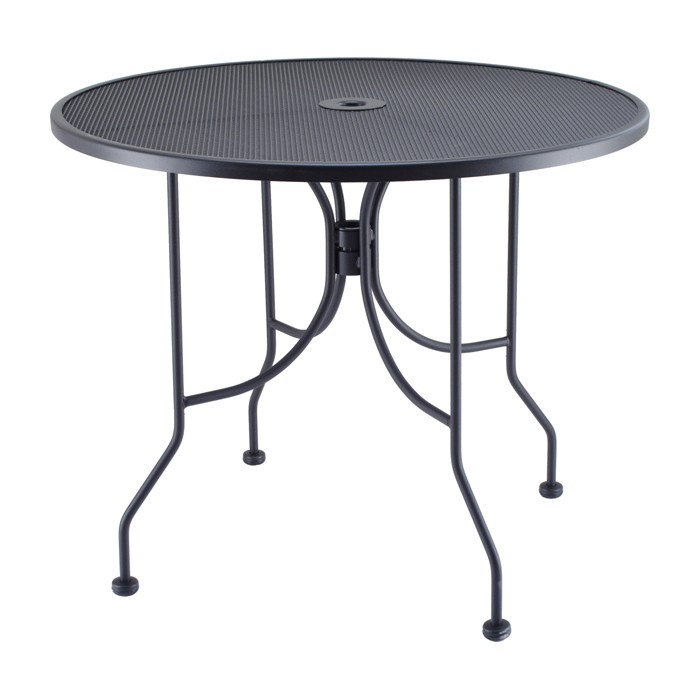 Outdoor furniture-Outdoor 30 Round Mesh Outdoor Table and Base