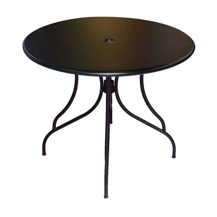 Outdoor furniture-Outdoor 30 Round Solid Metal Table Top