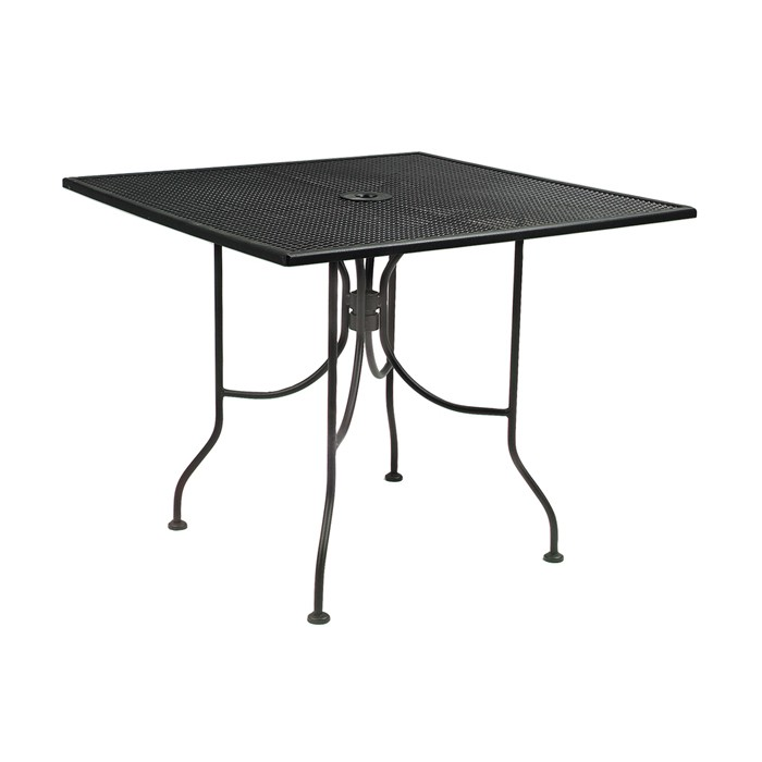 """Outdoor Furniture-Outdoor 30""""x30"""" Square Mesh Outdoor Table & Base"""