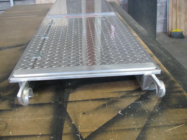 Diamond Plate Scaffolding with Hatch