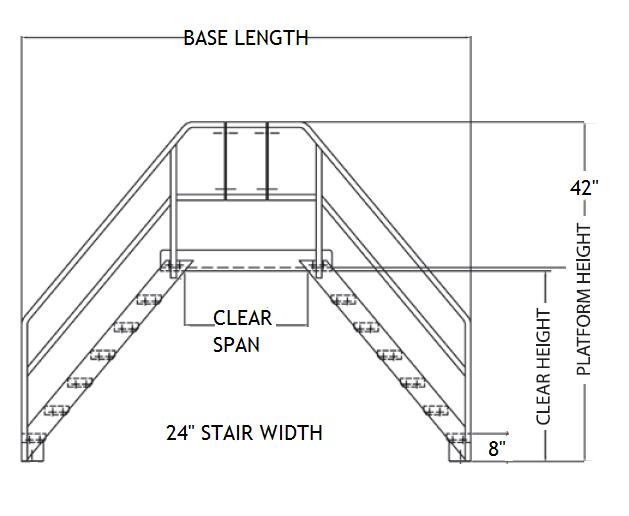 Aluminum Space Saver Cross Over Ladder