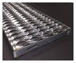 Stainless Steel Rolling Ladder Serrated Treads