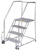 Stainless Steel TiltandRoll Ladder
