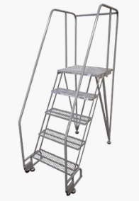 Straddle Base Style Tilt and Roll Ladders
