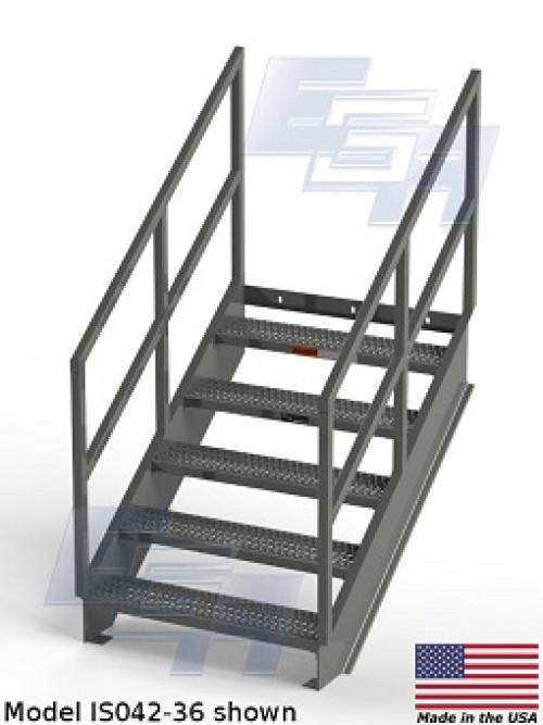 36.4º Industrial Stairway with Platform
