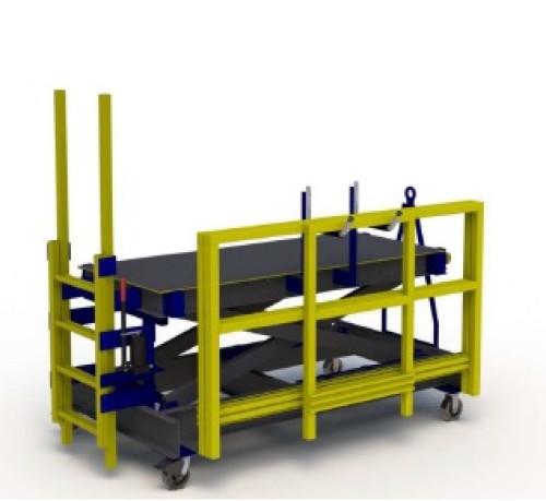 FRP Composite B4 Aircraft Maintenance Stand