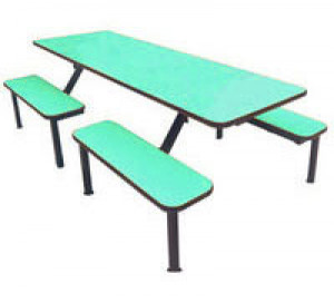Island Frame Cafeteria Table