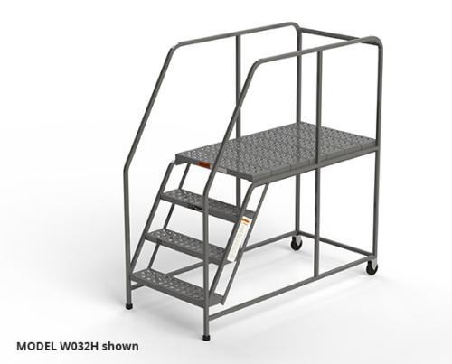 Mobile Work Platform Ladder