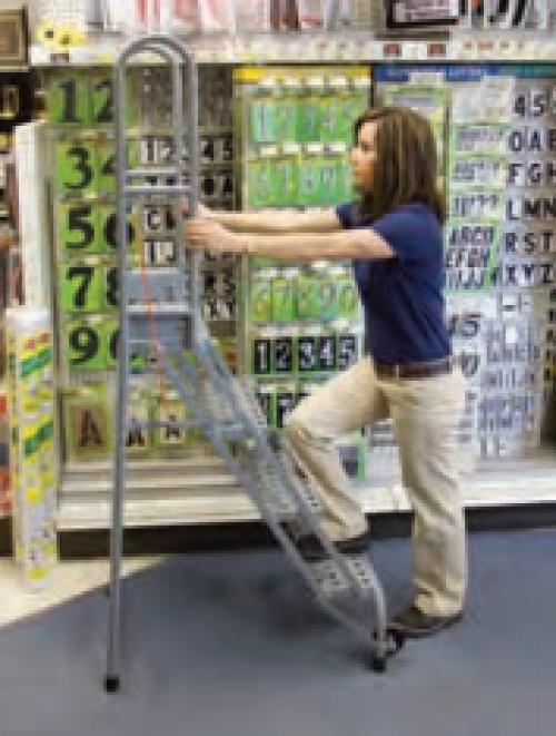 Stock N Store Steel Folding Ladders