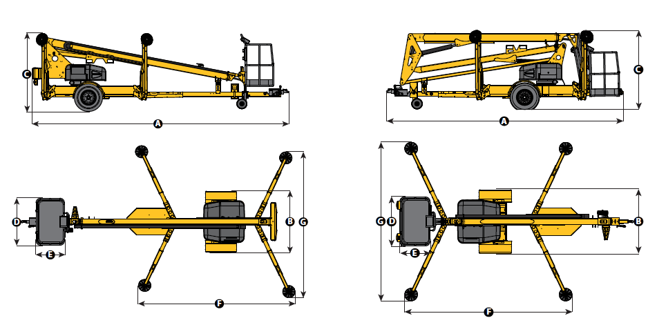 4527A Trailer Mounted Boom Lift