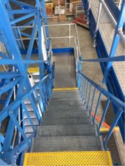 "Universal Tail Dock Stairways feature 31""W Non-slip safety stair treads"