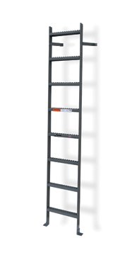 Steel Vertical Wall Mount Ladders Without Rail Extensions
