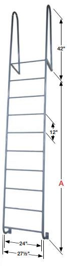 Welded Steel Dock Ladders