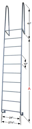 Welded_Steel_Dock_Ladders_Walk through handrails