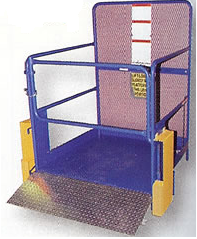 Work Platform Automatic Fold Down Ramp