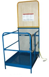 "Single Door Entry Work Platforms - model WP-84B (Cal OSHA compliant 84"" H backing)"