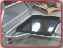 Workmaster Super Duty Rolling Ladder Optional Tray