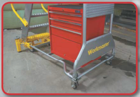 Workmaster Super Duty Rolling Ladder Optional ToolBox